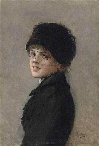 portrait dune jeune parisienne by jean béraud