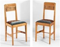 paire de chaises (pair) by gustave serrurier-bovy