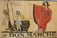 au bon marche advertising billboard by rené vincent