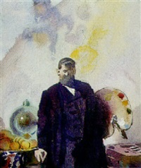 portrait of frank brangwyn by joseph simpson