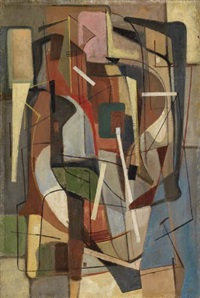 city abstraction by walter augustus simon