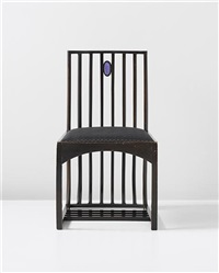side chair, designed for the drawing room, hous'hill, catherince cranston's residence, nitshill, glasgow by charles rennie mackintosh