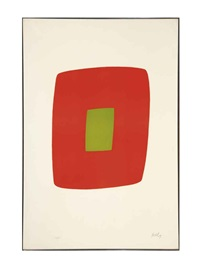 orange with green (+ 2 others; 3 works) by ellsworth kelly