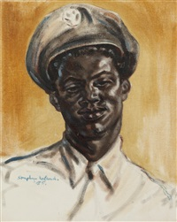 portrait of a man in uniform by stephen ward