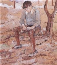 niño sentado by enrique policastro