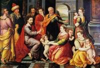le christ bénissant les enfants by hieronymus francken the elder