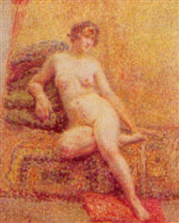 nu sur le sofa by joseph athanase aufray