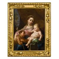 madonna mit kind und johannesknaben by pomponio allegri