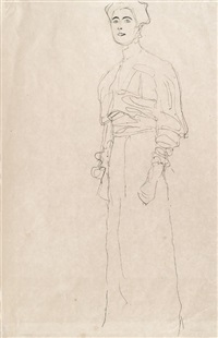 stehende (margaret stonborough-wittgenstein) by gustav klimt