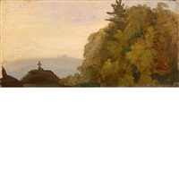 cross on a hilltop by thomas cole