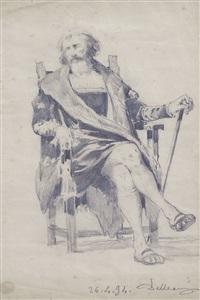 figura seduta by lorenzo delleani