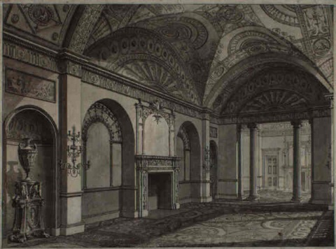 the third drawing room at the earl of derbys house in grosvenor square by robert adam