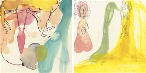 untitled in 2 parts by amy sillman