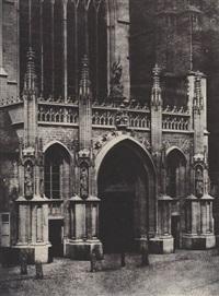 portail latéral de l'église de sainte-gudule à bruxelles, belgique (2 works) by sabattier