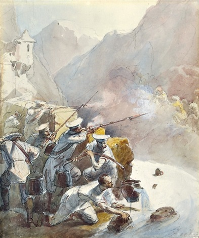 russian soldiers fusillade by mihály von zichy