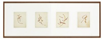 untitled (4 works) by merce cunningham