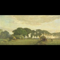 haymaking, sompting by frank mura