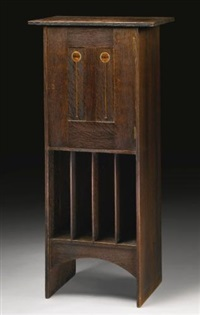 important and rare music cabinet by harvey ellis