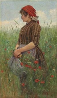 la contadina-primavera by angiolo tommasi