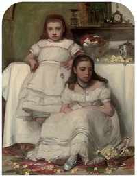 sisters by francis montague (frank) holl