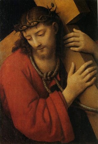 christ carrying the cross by andrea solario