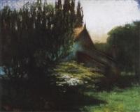 nagybányai táj (landscape in nagybánya) by istván réti