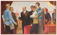 lenin auf der dritten versammlung des komsomol' by revold vladimirovich baryshnikov