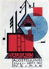 postkarte zur bauhausausstellung, weimar 1923 by rudolf baschant