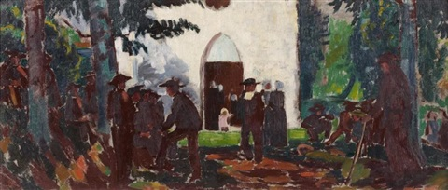 pardon en bretagne à la chapelle ensoleillée by maurice denis