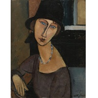 jeanne hébuterne (au chapeau) by amedeo modigliani