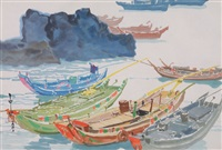 ship enters the harbor by ma pai sui