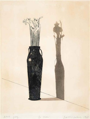 vase and flowers by david hockney