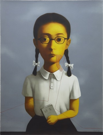 girl by zhang xiaogang
