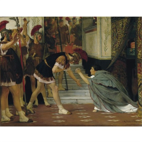 proclaiming claudius emperor opus xlviii by sir lawrence alma tadema