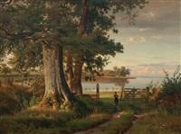 landscape in east holstein by ludwig heinrich theodor (louis) gurlitt