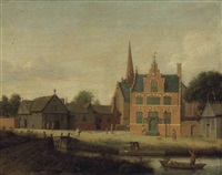 a view of assendelft by pieter janz saenredam