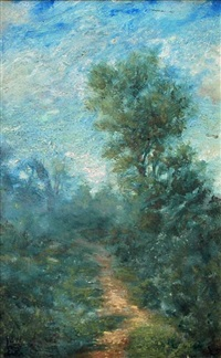 landscape with path by james walter robert linton