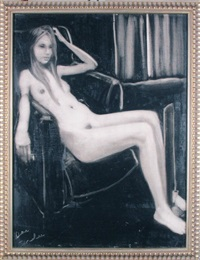 seated woman by joe andoe