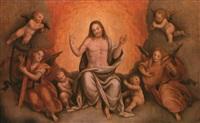 cristo in gloria tra gli angeli by bernardino lanino