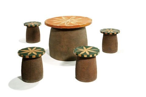 table and stools set of 5 by stan bitters