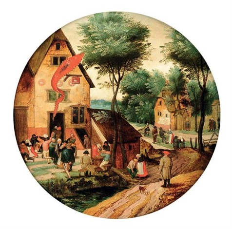 la kermesse de la saint georges by pieter brueghel the younger