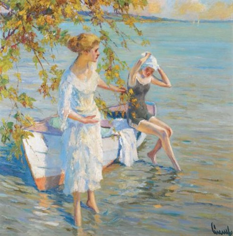 am badeplatz the bathers by edward cucuel