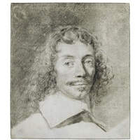 portrait of a young gentleman, head and shoulders by cornelis visscher