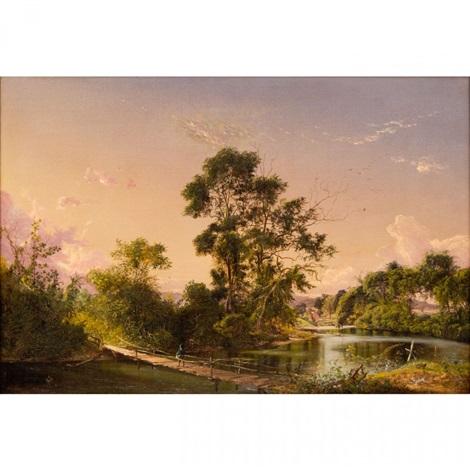 sunset on the unadilla river new york by david johnson