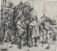 five soldiers and a turk on horseback by albrecht dürer
