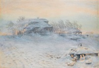 the blizzard by appolinari mikhailovich vasnetsov