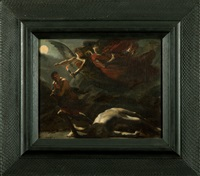 justice and divine vengeance pursuing crime, after pierre-paul prud'hon c.1805-1806 by charles frederick goldie