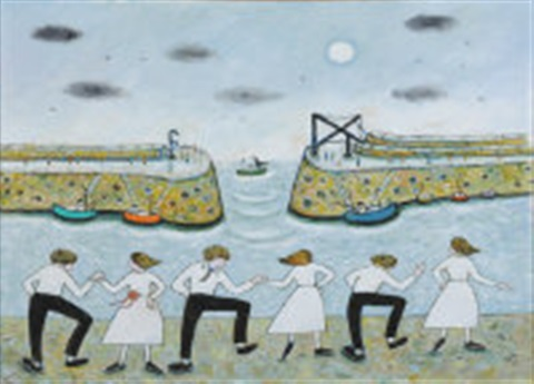 the furry dance at mousehole by joan gillchrest