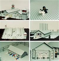 lego. obóz koncentracyjny, zestaw 11 fotografii by zbigniew libera