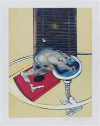 figure at a washbasin by francis bacon